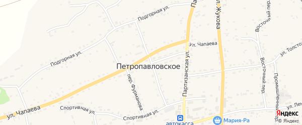 Колхозный переулок на карте Петропавловского села с номерами домов