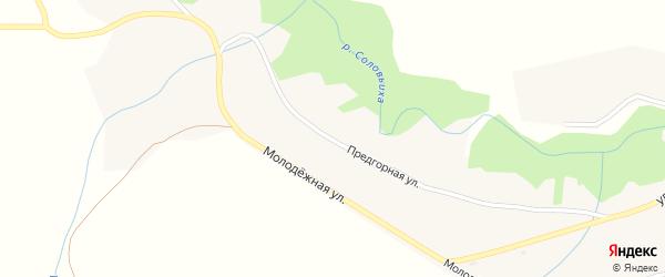 Предгорная улица на карте села Соловьихи с номерами домов