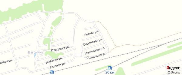 Цветочная улица на карте садового некоммерческого товарищества Энергетика с номерами домов