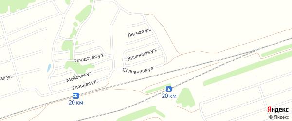 Малиновая улица на карте садового некоммерческого товарищества Овощевода с номерами домов