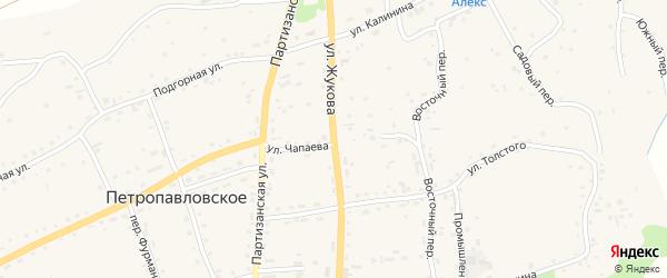 Улица Жукова на карте Петропавловского села с номерами домов