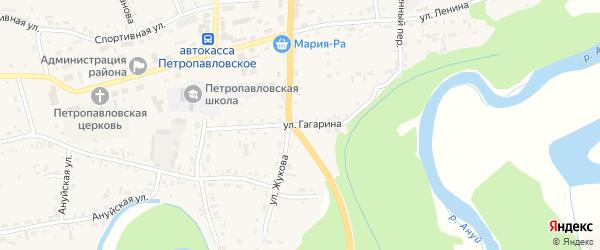 Улица Гагарина на карте Петропавловского села с номерами домов