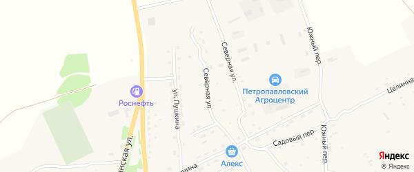 Северная улица на карте Петропавловского села с номерами домов