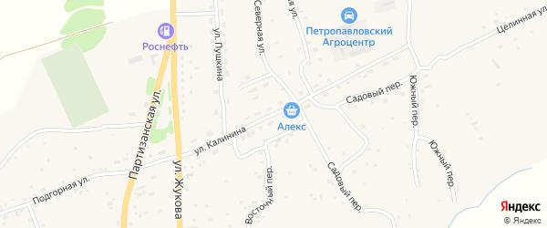Улица Калинина на карте Петропавловского села с номерами домов