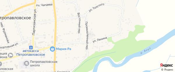 Промышленный переулок на карте Петропавловского села с номерами домов