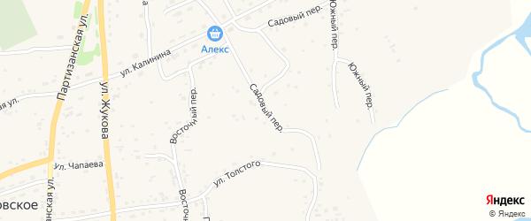 Садовый переулок на карте Петропавловского села с номерами домов