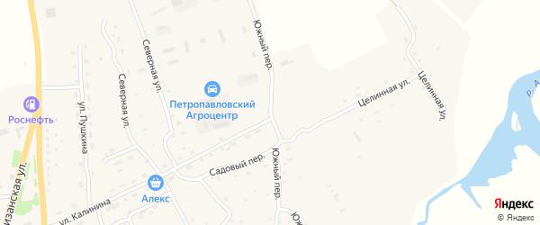 Южный переулок на карте Петропавловского села с номерами домов
