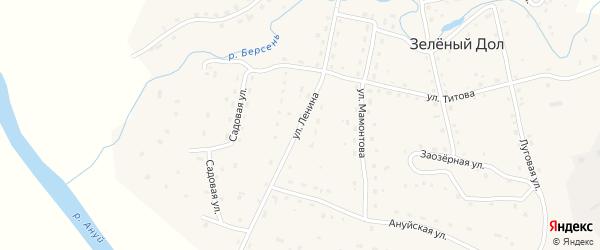 Улица Ленина на карте села Зеленого Дола с номерами домов
