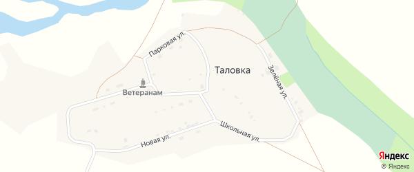 Школьная улица на карте села Таловки с номерами домов