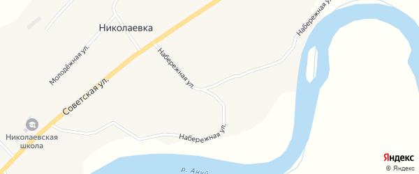 Набережная улица на карте села Николаевки с номерами домов