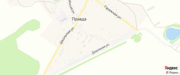 Гаражная улица на карте поселка Правды с номерами домов