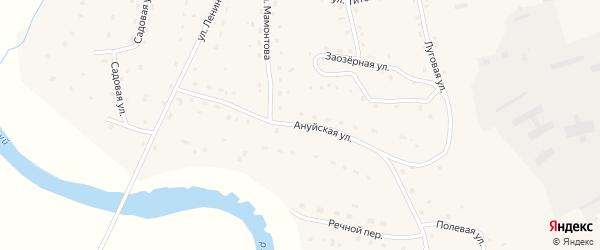 Ануйская улица на карте села Зеленого Дола с номерами домов