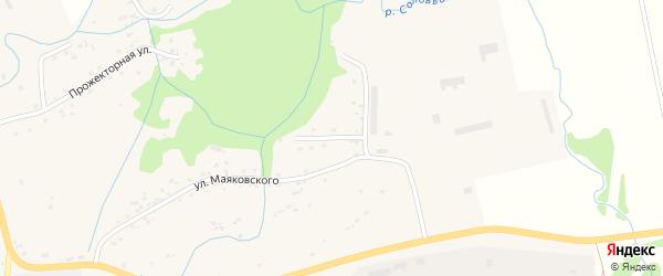 Мельничный переулок на карте села Алексеевки с номерами домов