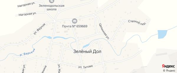 Спортивный переулок на карте села Зеленого Дола с номерами домов