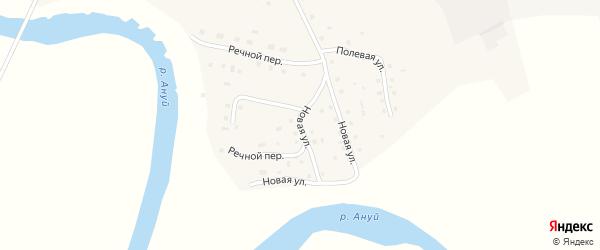 Новая улица на карте села Зеленого Дола с номерами домов