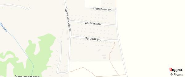 Луговая улица на карте села Алексеевки с номерами домов
