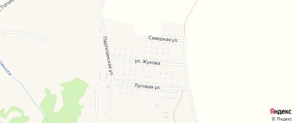 Улица Жукова на карте села Алексеевки с номерами домов