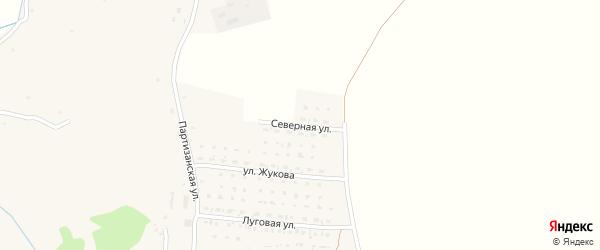 Северная улица на карте села Алексеевки с номерами домов