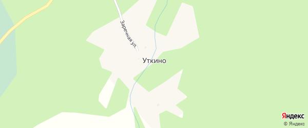 Лесная улица на карте села Уткино с номерами домов