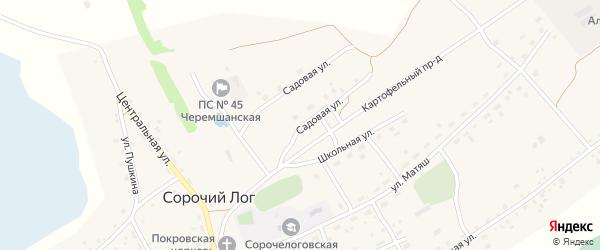 Садовая улица на карте села Сорочьего Лога с номерами домов