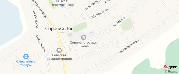 Улица Е.Матяш на карте села Сорочьего Лога с номерами домов