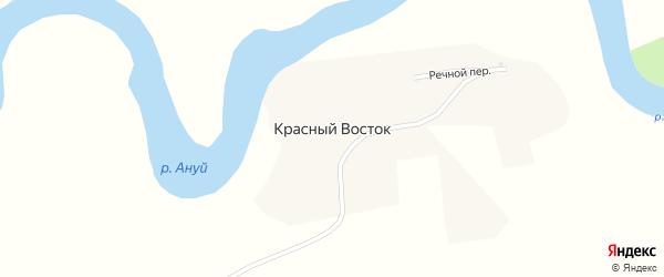 Улица Ворошилова на карте поселка Красного Востока с номерами домов