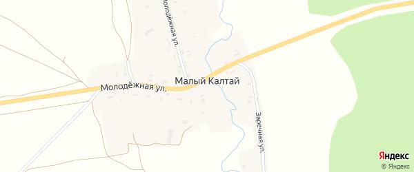 Молодежная улица на карте села Малого Калтая с номерами домов