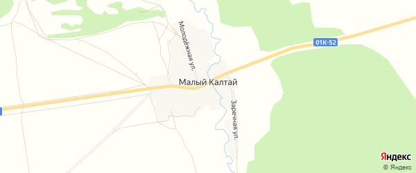 Карта села Малого Калтая в Алтайском крае с улицами и номерами домов
