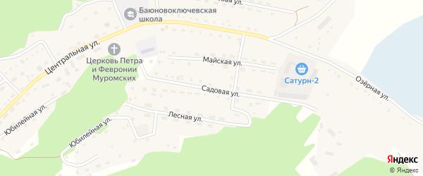 Садовая улица на карте села Баюновские Ключей с номерами домов