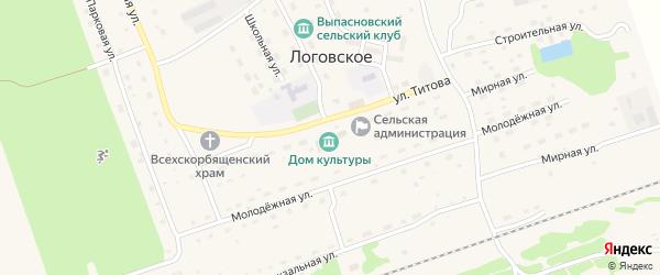 Строительная улица на карте Логовского села с номерами домов