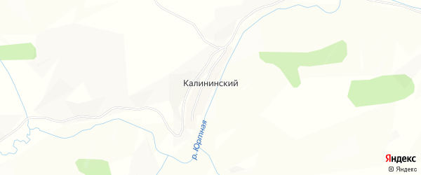 Карта Калининского поселка в Алтайском крае с улицами и номерами домов