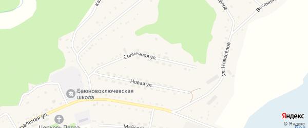 Улица Новоселов на карте села Баюновские Ключей с номерами домов