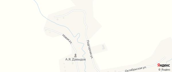 Подгорная улица на карте Юртного села с номерами домов