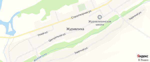 Карта села Журавлихи в Алтайском крае с улицами и номерами домов