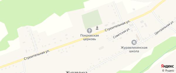 Строительная улица на карте села Журавлихи с номерами домов
