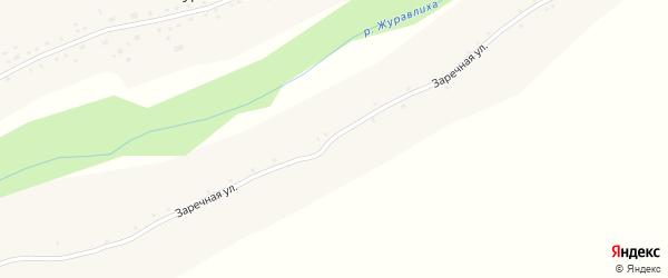 Заречная улица на карте села Журавлихи с номерами домов