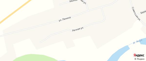 Речная улица на карте села Паутово с номерами домов