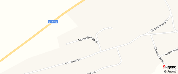 Молодежная улица на карте села Паутово с номерами домов