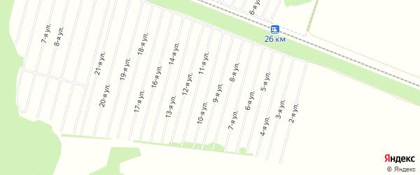 Баюновское СТ на карте Косихинского района с номерами домов