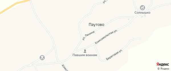 Улица Ленина на карте села Паутово с номерами домов