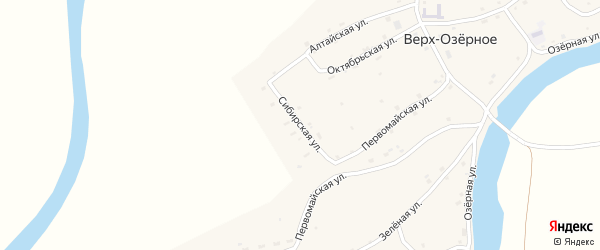 Сибирская улица на карте Верха-Озерного села с номерами домов