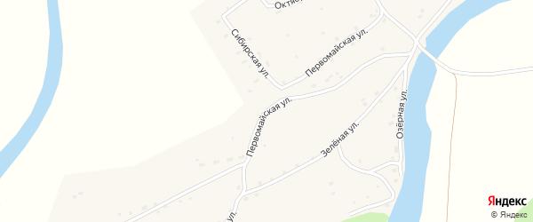 Первомайская улица на карте Верха-Озерного села с номерами домов