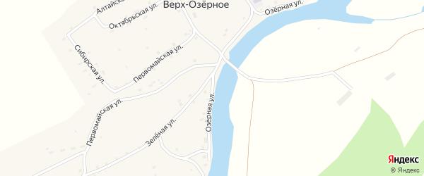 Озерная улица на карте Верха-Озерного села с номерами домов