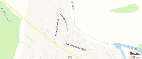 Молодежная улица на карте Солонешного села с номерами домов