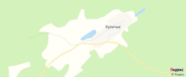 Карта поселка Куличья в Алтайском крае с улицами и номерами домов