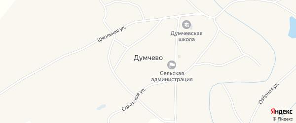 Лесная улица на карте села Думчево с номерами домов