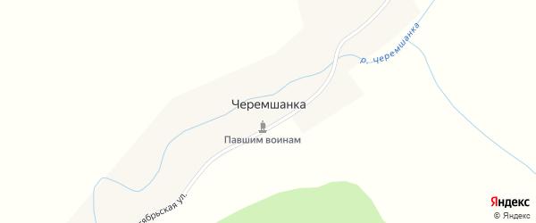 Октябрьская улица на карте села Черемшанки с номерами домов