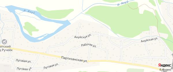 Ануйская улица на карте Солонешного села с номерами домов