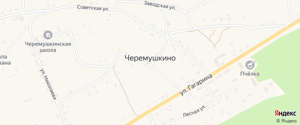 Советская улица на карте села Черемушкино с номерами домов
