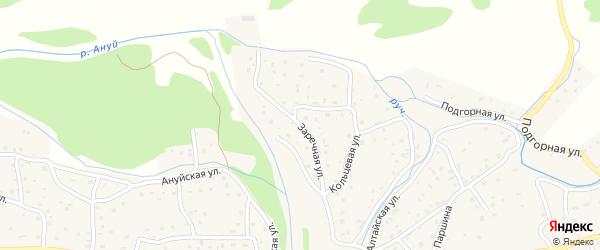 Заречная улица на карте Солонешного села с номерами домов